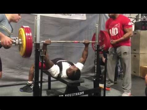 national bench press records granville mayers sets national bench press record youtube