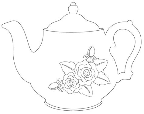 vintage teapot digital st coloring pages pinterest