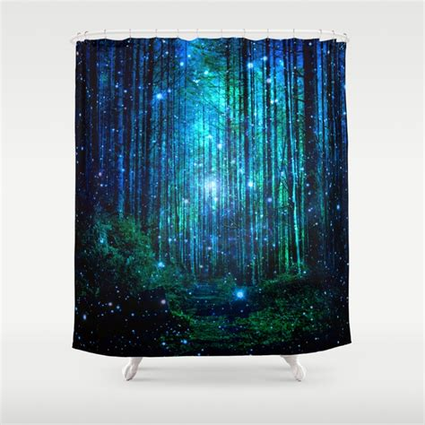 In Shower Curtain - popular dark blue shower curtains society6
