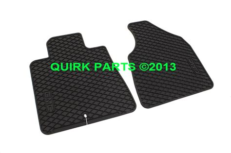 Mat Sle Questions by 2007 2014 Gmc Acadia Front Black Rubber Floor Mats Oem Brand New Ebay