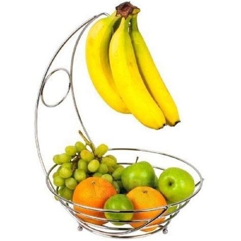 banana tree fruit bowl 2 tier fruit bowl veg basket banana holder storage hanger
