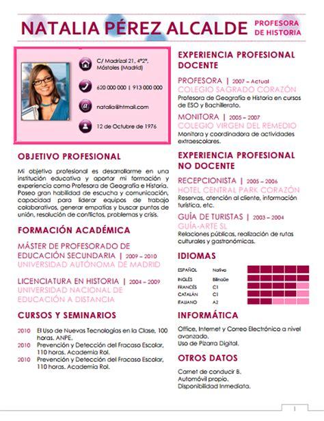Plantilla De Curriculum Vitae De Profesores Modelo De Curriculum Vitae Docente Escuela Modelo De Curriculum Vitae