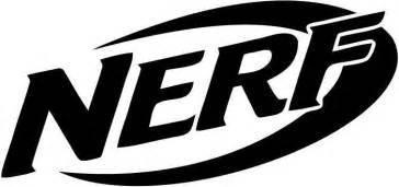 Nerf Logo nerf logo   vinyl car window and laptop decal sticker