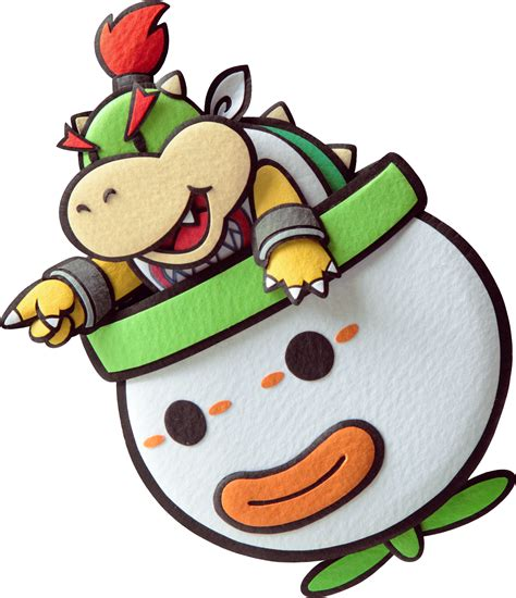 bowser jr paper mario sticker star png
