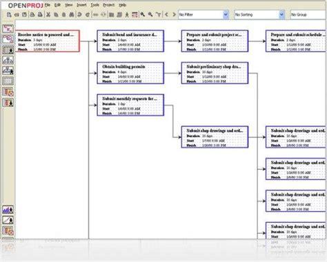 project diagram software openproj project management sourceforge net
