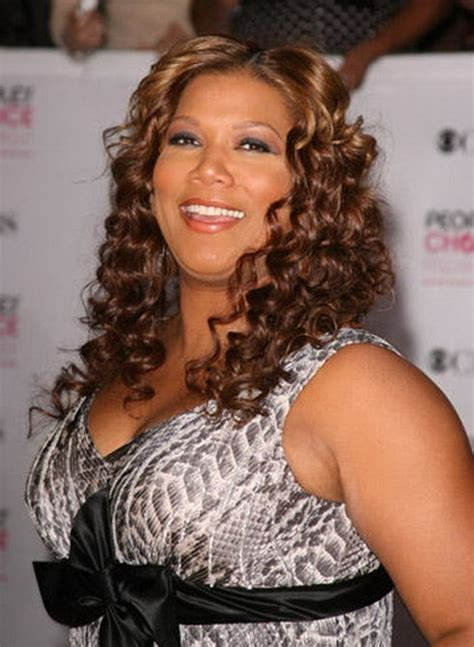 hairstyles queen latifah curly hairstyle queen latifah s sexy shoulder length