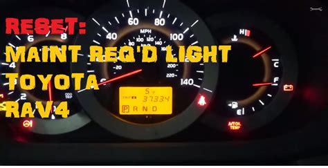 Service Required Light by How To Reset Maintenace Required On 2014 Toyota Rav4