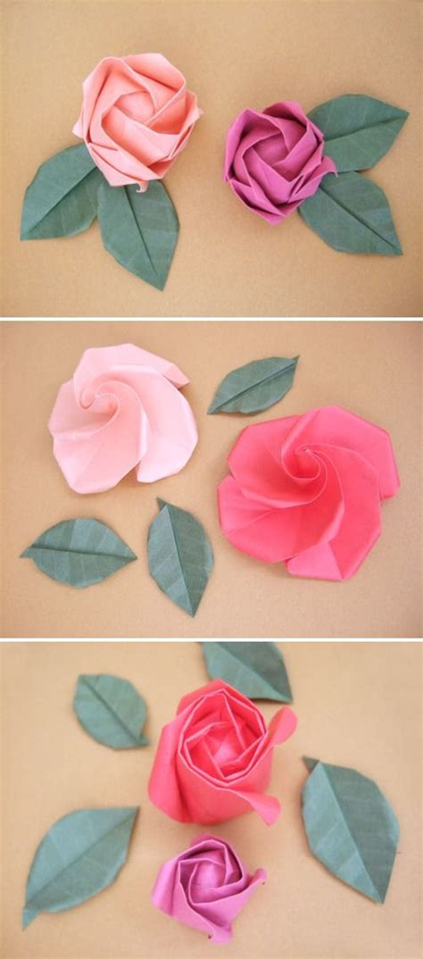 Origami Roses Tutorial - diy origami roses i ve been trying to find a