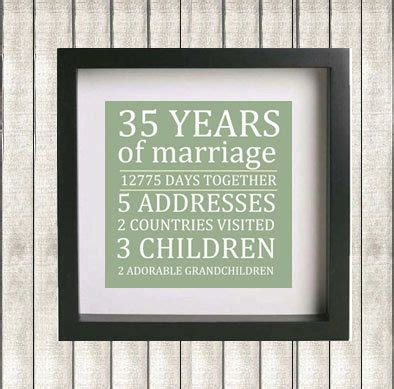 25 best ideas about 35th wedding anniversary gift on 40 wedding anniversary 35th
