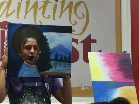 paint with a twist newark our instructor as the happy painter at painting with a
