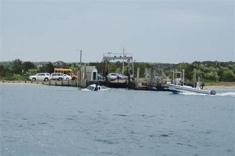Chappaquiddick Ferry Hours Driver Plunges Chappy Ferry R Into Edgartown Harbor