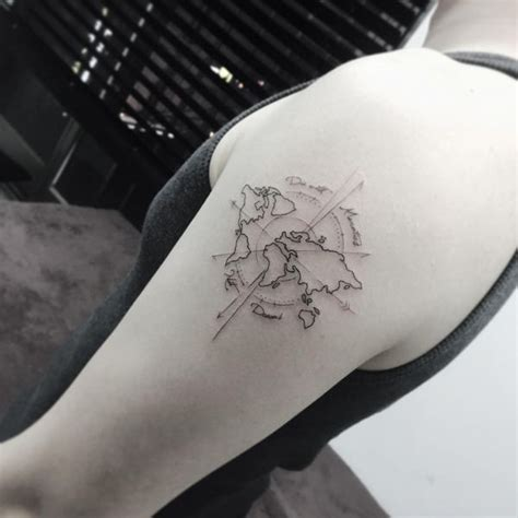 compass tattoo meanings nautical designs ideas 2017