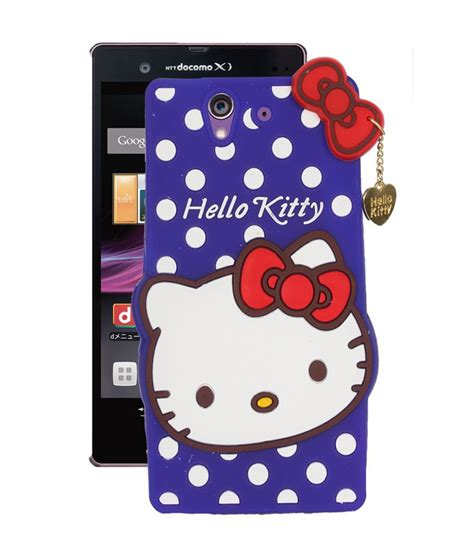 hello kitty wallpaper for xperia fuson hello kitty girly back cover for sony xperia z