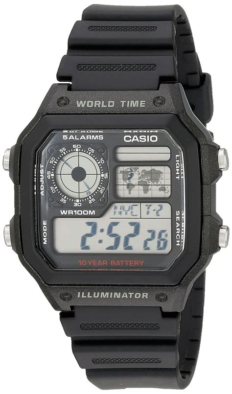 Jam Tangan Casio Ae1200 Digital casio s ae1200wh 1a world time multifunction