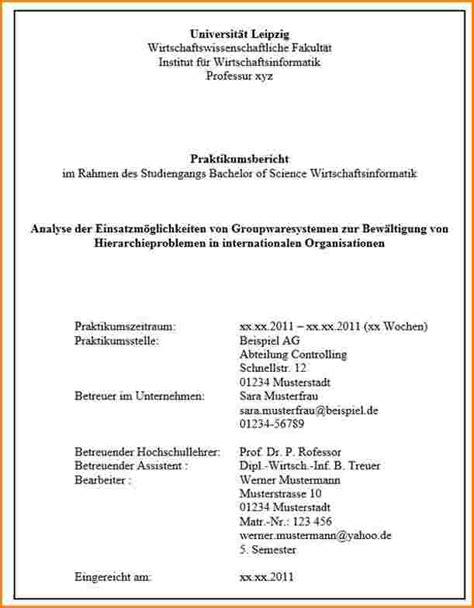 Word Vorlage Praktikumsbericht Deckblatt Praktikumsbericht Muster Reimbursement Format