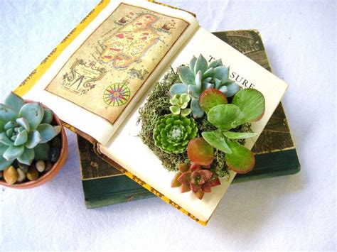 Succulent Book Planter by Diy Succulent Centerpiece Vintage Book Planter For The