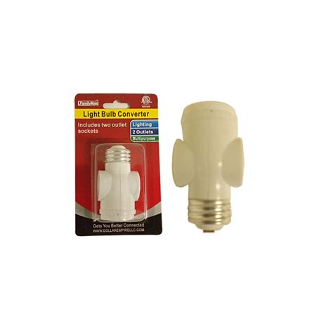 two bulb light socket 96 units of light bulb converter w two outlet socket at