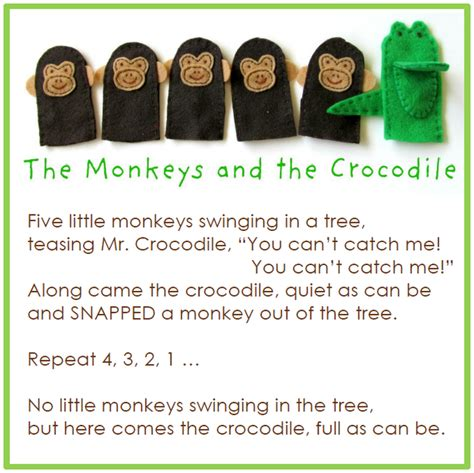 pattern lyrics puppets m is for monkey the monkeys and the crocodile finger