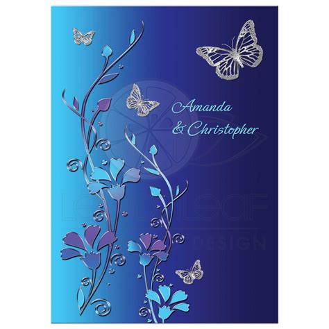 cheap aqua wedding invitations wedding invitation royal blue turquoise mauve flowers