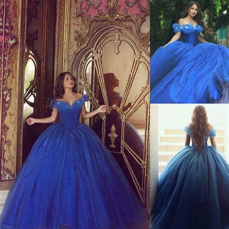 Bjg Blue Dress sale cinderella dresses royal blue quinceanera dress