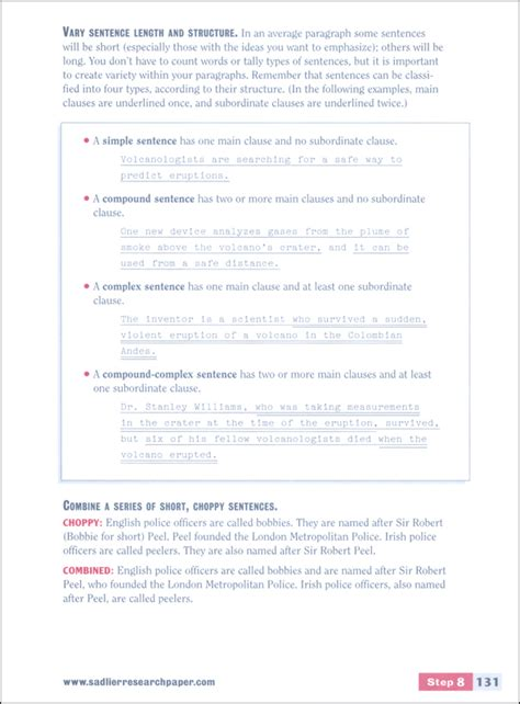 sadlier research paper writing a research paper a step by step approach student