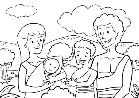 adam and eve cain and abel coloring page clipart 02 genesis 4 1 13 picture 01