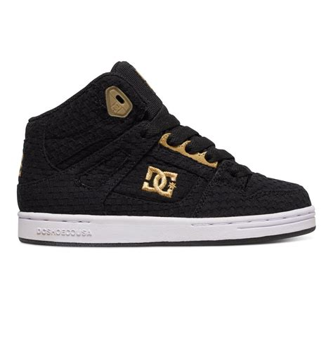 dc kid shoes kid s 8 16 rebound tx se high top shoes adbs100069 dc shoes