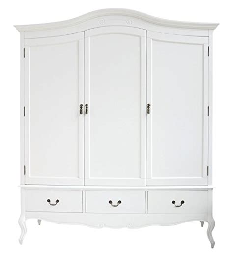 white shabby chic wardrobe juliette shabby chic white wardrobe with hanging