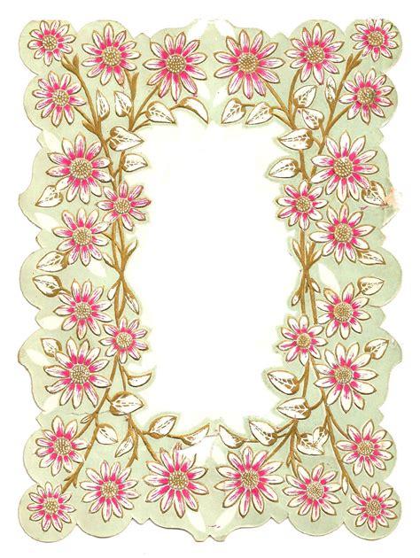 flower design for scrapbook antique images digital scrapbooking paper crafting frame