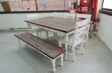 crafted reclaimed wood farmhouse table with beautiful