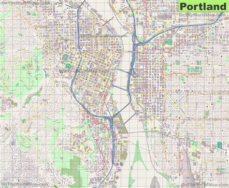 map of portland large detailed map of portland