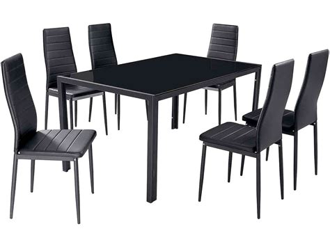 6 Black Dining Chairs Winda 7 Furniture 6 Black Dining Chairs