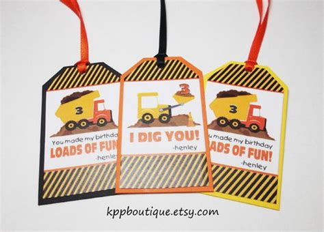 i dig you party favors i dig you favor tags maybe tied to plastic bags with