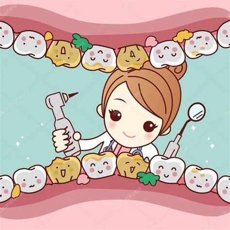imagenes animadas odontologo amigo de dientes de dibujos animados con dentista