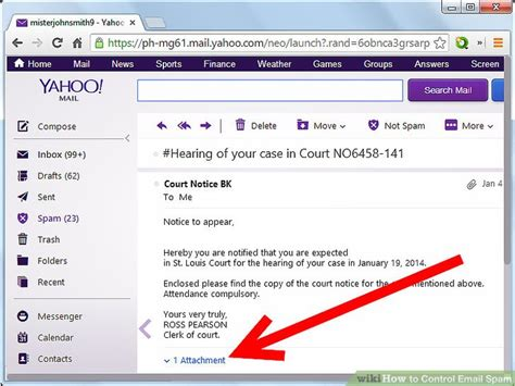 email yahoo about spam how to control email spam 4 steps with pictures wikihow
