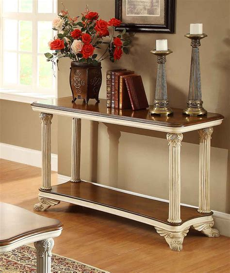 sofa table decorating ideas pictures homelegance casanova ii sofa table antique white 1589nf