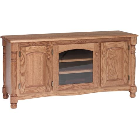 Unfinished Oak Furniture by Solid Oak Country Trend Tv Stand W Cabinet 58 Quot The Oak