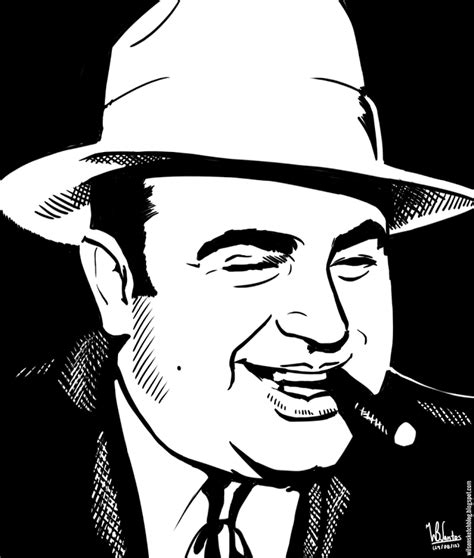 Ink Al ink drawing of al capone using krita 2 4 pictures in