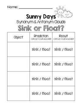 sink or float worksheet sink or float worksheets resultinfos