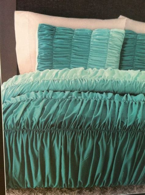ombre bedding cynthia rowley ombre ruched duvet comforter set twin xl