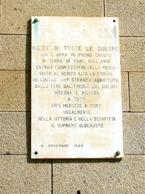 ufficio anagrafe la spezia lastra commemorativa al milite di tutte le guerre la