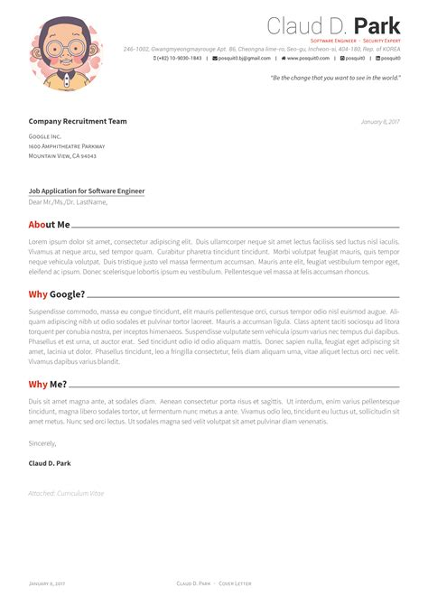how to make an awesome cover letter github posquit0 awesome cv awesome cv is template