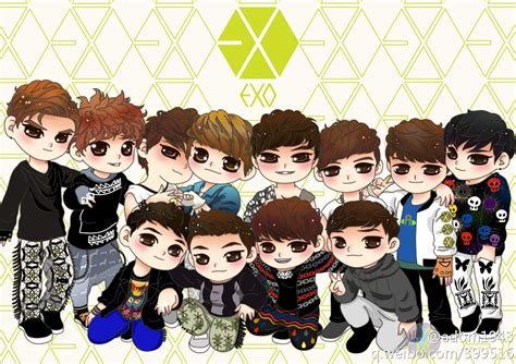 wallpaper exo chibi h 236 nh chibi exo dễ thương cute