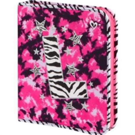 Zebra dye effect initial binder girls from justice things i