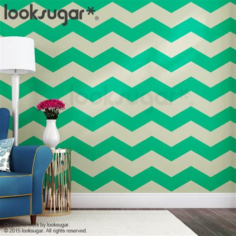 chevron wall stickers chevron wall stripes decal with wall stencil effect 15