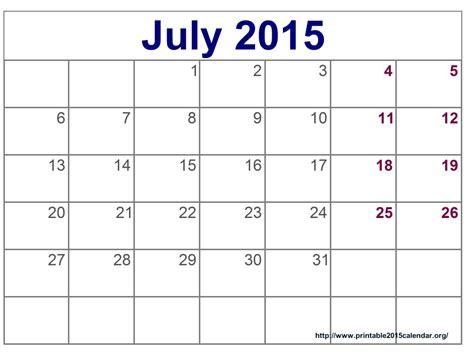 2015 calendar july printable print calendar