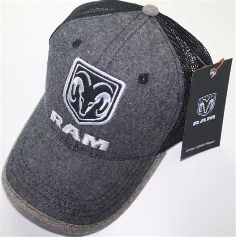 ram hats dodge ram logo mopar summer mesh back trucker