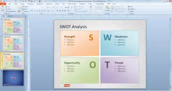 powerpoint swot analysis template free free swot analysis powerpoint template free powerpoint
