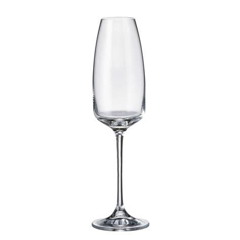 flute bicchieri set 6 bicchieri flute alizee in cristallo bohemia