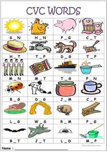 29 free esl cvc worksheets